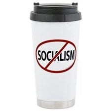 No Socialism Ceramic Travel Mug