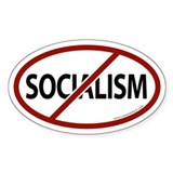 No Socialism Oval Decal
