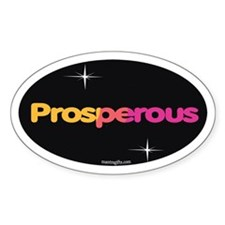 Prosperity Oval Sticker (10 pk)