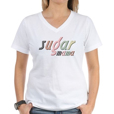 Sugar Mama Women's V-Neck T-Shirt