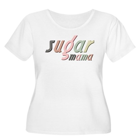 Sugar Mama Women's Plus Size Scoop Neck T-Shirt