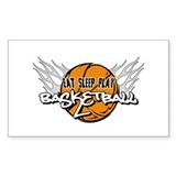Eat Sleep Play Basketball Rectangle Sticker 10 pk