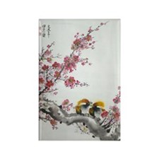 Rectangle Magnet (10 pack)--PlumBlossoms and Sparr