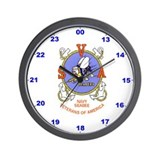 Wall Clock With S.V.A. Logo