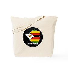 Flag Map of Zimbabwe Tote Bag