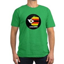 Flag Map of Zimbabwe T