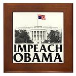 Impeach Obama Framed Tile