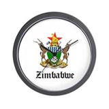 Zimbabwean Coat of Arms Seal Wall Clock
