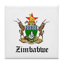 Zimbabwean Coat of Arms Seal Tile Coaster