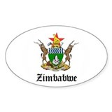 Zimbabwean Coat of Arms Seal Oval Decal