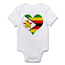 I Love Zimbabwe Infant Bodysuit