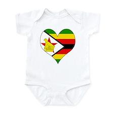 I Love Zimbabwe Infant Bodysuit