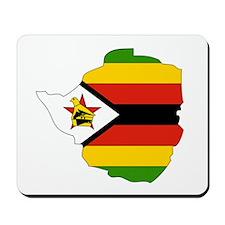 Zimbabwe Flag Map Mousepad