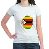 Zimbabwe Flag Map T