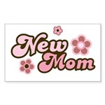 New Mom Rectangle Sticker 10 pk)
