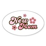 New Mom Oval Sticker (50 pk)
