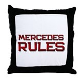 mercedes rules Throw Pillow