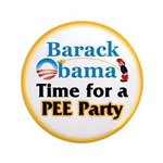 """Pee Party 3.5"""" Button (100 pack)"""