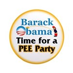 """Pee Party 3.5"""" Button"""