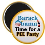 """Pee Party 2.25"""" Magnet (10 pack)"""
