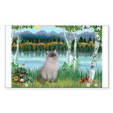Birches / Ragdoll Rectangle Decal