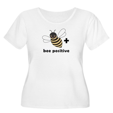 Bee Positive Women's Plus Size Scoop Neck T-Shirt