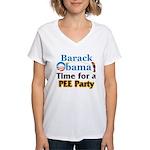 Pee Party Women's V-Neck T-Shirt