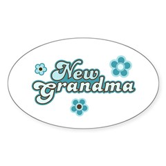 New Grandma Oval Sticker (10 pk)