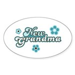 New Grandma Oval Sticker (50 pk)