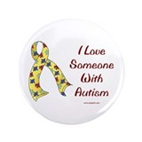 "Autism Love 3.5"" Button (100 pack)"