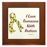 Autism Love Framed Tile