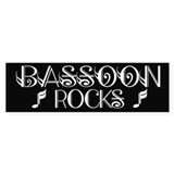Black Bassoon Rocks Bumper Bumper Stickers