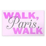 Walk Paris Walk Rectangle Decal
