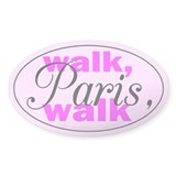 Walk Paris Walk Oval Decal