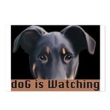 doG is watching Postcards (Package of 8)