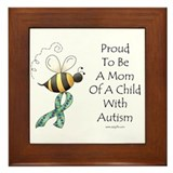Autism Mom Framed Tile