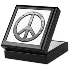 Metal rivet peace Keepsake Box