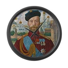 Tsar Nicholas II Large Wall Clock