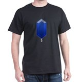 Blue Rupee (5) - Black T-Shirt