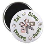 Eat Sleep Scrap Repeat Magnet