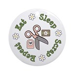 Eat Sleep Scrap Repeat Ornament (Round)