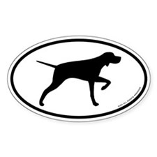 Pointing Pointer Oval Sticker (50 pk)