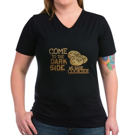 Come To The Dark Side Womens V-Neck T-Shirt