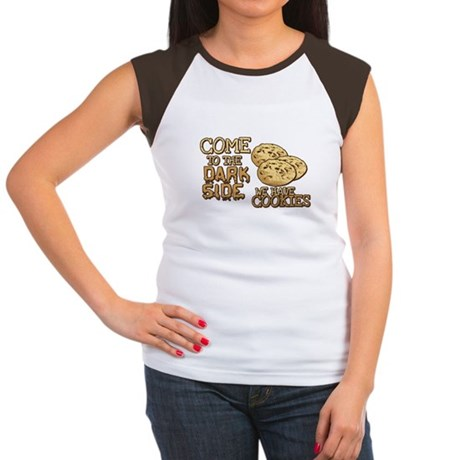 Come To The Dark Side Womens Cap Sleeve T-Shirt