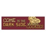 Come To The Dark Side Bumper Car Sticker
