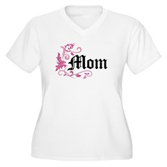 Mom Vintage Women's Plus Size V-Neck T-Shirt