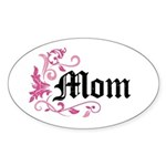 Mom Vintage Oval Sticker (50 pk)