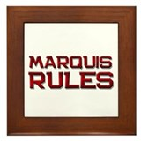 marquis rules Framed Tile