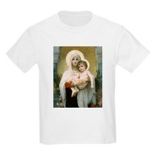Madonna of the Roses Kids T-Shirt