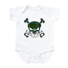 MacLeod Tartan Skull Infant Bodysuit